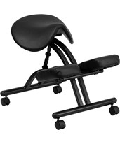 Ergonomic Kneeling Chair with Black Saddle Seat WL-1421-GG
