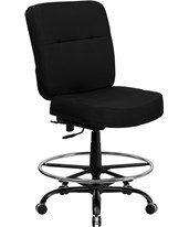 Hercules Swivel Drafting Chair WL-735SYG-BK-D-GG