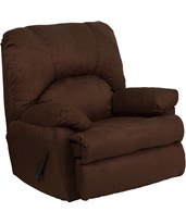 Contemporary Montana Chocolate Microfiber Suede Rocker Recliner WM-8500-263-GG