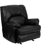 Contemporary Apache Black Leather Rocker Recliner WM-8500-371-GG
