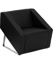 HERCULES Smart Series Black Leather Reception Chair ZB-SMART-BLACK-GG