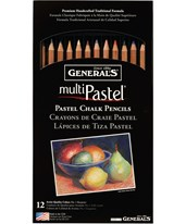 General's MultiPastel Pastel Chalk Pencil Set G4400-12