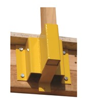 "Guardian Fall Protection Guardrail Receiver for 2x4"" Boards 61029"