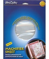 UltraOptix Handi-Lens 2x Hard Magnifier Sheet HL-PH