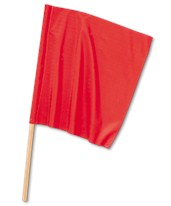 "Traffic Safety Warning Flags 18"" x 18"" FN-180"