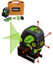 Green Cross-Line and Red 5-Dot Combination Self-Leveling Laser 40-6688