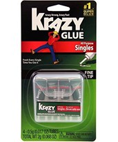 Elmer's Instant Krazy Glue Single-Use Tube (4-Pack) KG820