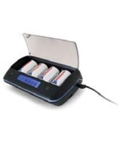 4 NiMH Rechargeable Batteries with Charging Station 0003-0028