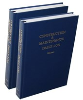 Construction & Maintenance Daily Log Book 2-Volume Set 506