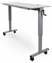 Crank Height Adjustable Flip-Top Table STAND-NESTC-60