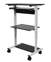 Three Shelf Adjustable Stand Up Workstation STAND-WS30