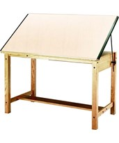 Mayline Wood 4-Post Drafting Table 7706