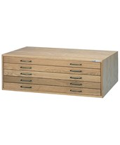 Mayline 5-Drawer Wood Plan File 7717C