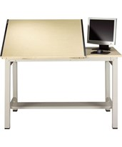 Mayline Ranger Steel 4-Post Split Top Drafting Table 7772