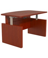 Aberdeen Series Height-Adjustable Bow-Front Desk ABDH6642LCR