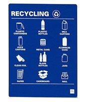 Sign Holder for Sotare and Valuta Waste Receptacles SIGN-ACR
