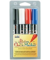 Marvy Bistro Chalkboard and Light Board Marker 4-Color Set MR480-4A
