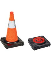 Collapsible Traffic Cone with Rubber Base 17731-0-18
