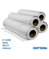 "Dietzgen Fast Speed Diazo Paper, 20 lb, 2"" Core, 150ft. Rolls 241BF365"