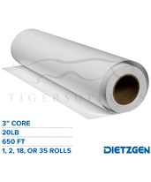 "Dietzgen Engineering Bond Paper, 20 lb, 3"" Core, 650ft. Rolls 430C22P"