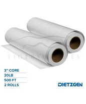 "Engineering Bond Paper, 20lb, 3"" Core, 36"" W x 500' L (2 Rolls) 430C36L_x2"