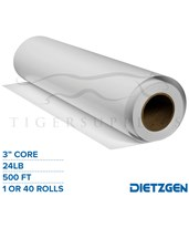 "Dietzgen Engineering Bond Paper, 24 lb, 3"" Core, 500ft. Rolls 435C24LS"