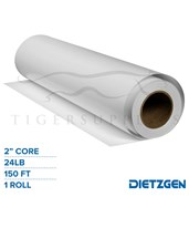"Dietzgen Economy Coated Matte Paper, 24 lb, 2"" Core, 150ft. Roll 71424150"