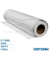 "Dietzgen Economy Coated Matte Paper, 24 lb, 2"" Core, 300ft. Roll 71424300"