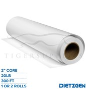 "Dietzgen High Bright Inkjet Bond Paper, 20 lb, 2"" Core, 300ft. Rolls 740240"