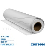 "Dietzgen Coated Inkjet Matte Paper, 24 lb, 2"" Core, 300ft. Rolls 745220"