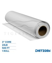 "Dietzgen Coated Inkjet Matte Paper, 24 lb, 3"" Core, 500ft. Roll 74524LS-C"