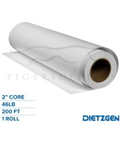 "Dietzgen Coated Inkjet Matte Paper, 46 lb, 2""/3"" Core, 200ft. Roll 74724E"