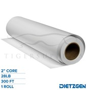 "Dietzgen Coated Inkjet Matte Paper, 28 lb, 2""/3"" Core, 300ft. Roll 748240-C"