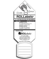 White Senior Labels (Qty. 250) SRWH