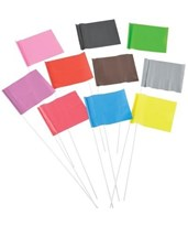 Plain PVC Pin Flag (1,000 Per Box) PF4518