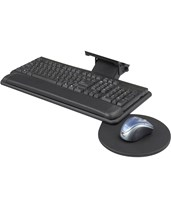 Adjustable Keyboard Platform with Swivel Mouse Tray 2135BL