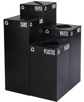 Public Square Waste Receptacle Base 2981BL