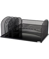 Onyx Horizontal/Upright Sections Organizer 3254BL