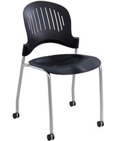 Zippi Plastic Stack Chair (Qty. 2) 3385BL