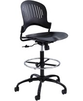 Zippi Plastic Extended-Height Drafting Chair 3386BL