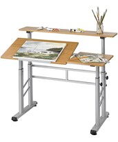 Height-Adjustable Split Level Drafting Table 3965MO