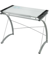 Safco Xpressions Glass Top Drafting Table 3966TG