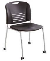 Vy Straight Leg Chair with Casters (Qty. 2) 4291BL