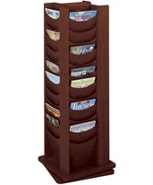 48-Pocket Solid Wood Rotating Display 4335MH