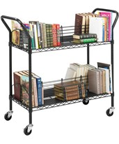 Wire Book Cart 5333BL
