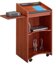 Executive Mobile Lectern Cherry Mahogany 8918MH