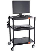 Steel Adjustable AV Cart 8932BL