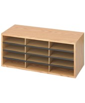 Wood/Corrugated Literature Organizer 9401MO