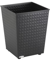 Safco Checks Wastebasket (Qty. 3) 9733BL