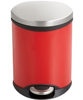 Safco Ellipse Step-On Waste Receptacle 9900RD
